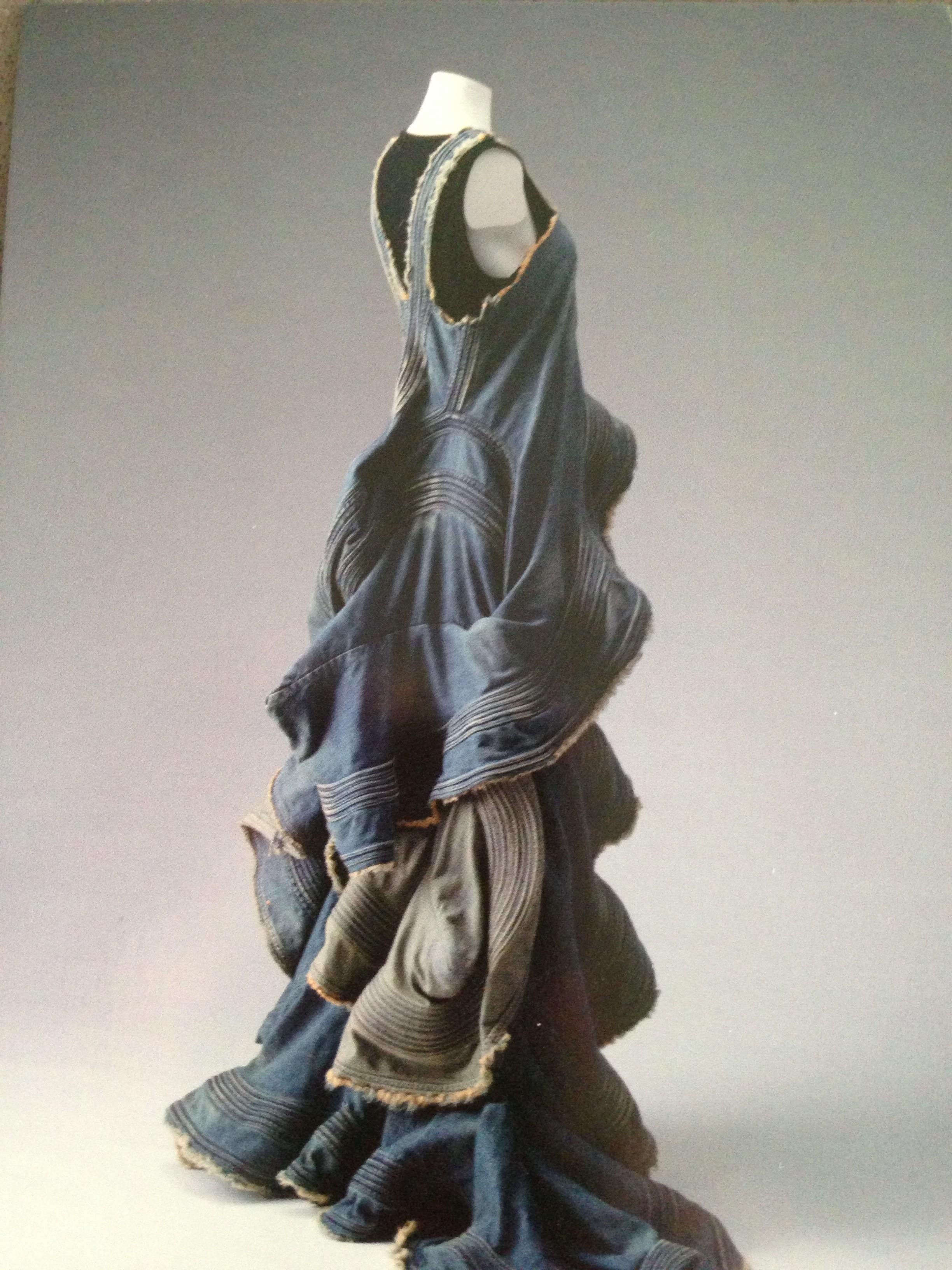 Junya Watanabe Comme Des Garcons Blue Washed Denim Dress