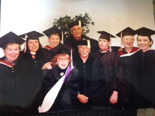The Missonis along with fashion school faculty in 1999