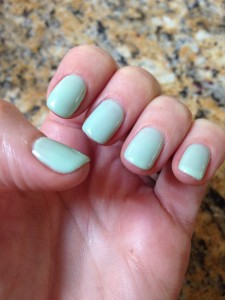 CND Shellac in Mint Convertible